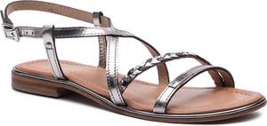 Srebrne sandały Les Tropeziennes z klamrami w stylu casual