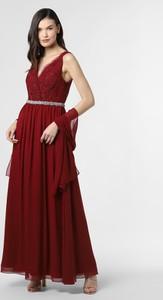 Czerwona sukienka Mascara z szyfonu