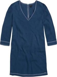 Sukienka Pepe Jeans z dekoltem w kształcie litery v mini