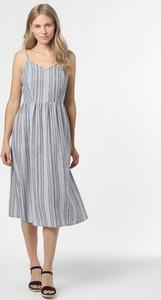 Granatowa sukienka Only na ramiączkach midi
