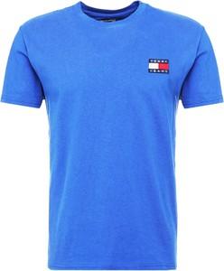 Niebieski t-shirt Tommy Hilfiger z bawełny
