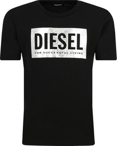 Czarna koszulka dziecięca Diesel z krótkim rękawem