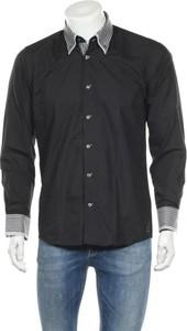 Czarna koszula Dewberry z długim rękawem