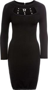 Czarna sukienka bonprix bodyflirt boutique midi w młodzieżowym stylu