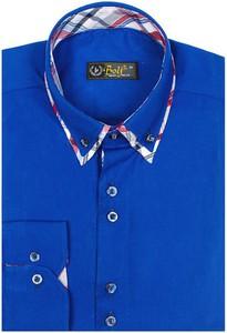 Niebieska koszula Denley z kołnierzykiem button down z długim rękawem