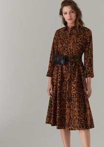 Sukienka Mohito midi w stylu casual koszulowa