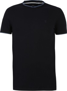Granatowy t-shirt Top Secret w stylu casual