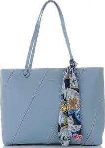 Niebieska torebka David Jones duża na ramię