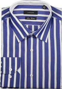 Niebieska koszula Lavard w stylu casual z tkaniny
