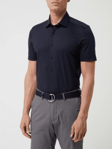 Koszula Olymp w stylu casual z klasycznym kołnierzykiem z krótkim rękawem