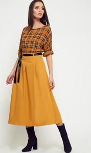 Żółta spódnica Yups z tkaniny