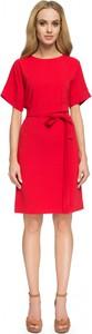 Czerwona sukienka Style z wełny