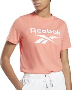 T-shirt Reebok w sportowym stylu z dzianiny z okrągłym dekoltem