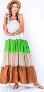Sukienka Ptakmoda.com maxi na ramiączkach