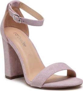 Fioletowe sandały DeeZee na obcasie