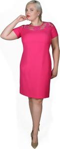 Sukienka Fokus w stylu klasycznym dopasowana z tkaniny