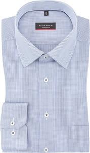 Niebieska koszula Eterna z klasycznym kołnierzykiem