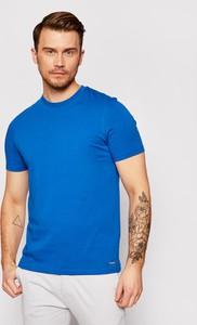 Niebieski t-shirt Roy Robson w stylu casual