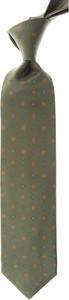 Zielony krawat Marinella z jedwabiu