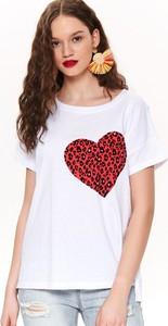 T-shirt Drywash w stylu casual z okrągłym dekoltem z krótkim rękawem