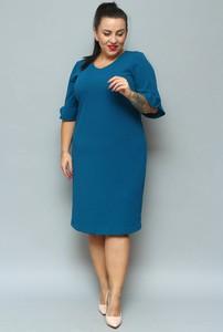 Sukienka KARKO ołówkowa z długim rękawem z tkaniny