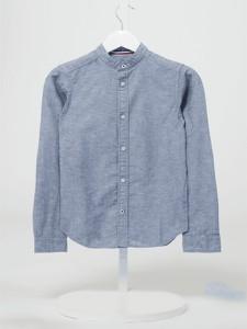 Niebieska koszula dziecięca Jack & Jones dla chłopców z bawełny