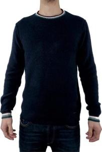 Niebieski sweter Gaudi z wełny w stylu casual z okrągłym dekoltem