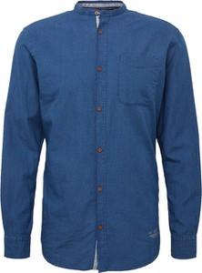 Granatowa koszula Jack & Jones z długim rękawem ze stójką