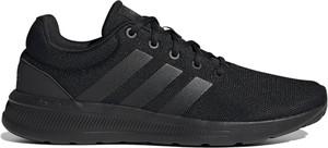 Czarne buty sportowe Adidas z zamszu sznurowane