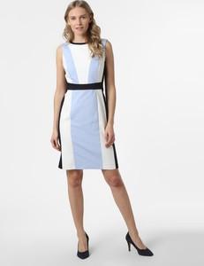 Niebieska sukienka S.Oliver Black Label z okrągłym dekoltem mini
