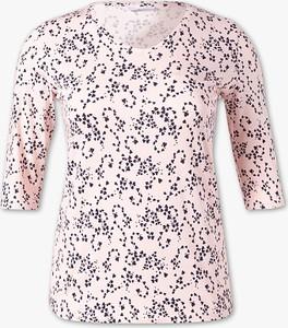 Różowy t-shirt YESSICA z długim rękawem
