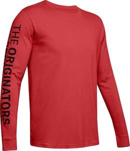 Czerwona koszulka z długim rękawem Under Armour z długim rękawem