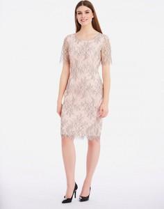 Sukienka POTIS & VERSO midi z okrągłym dekoltem prosta