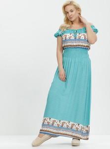Sukienka born2be trapezowa hiszpanka maxi