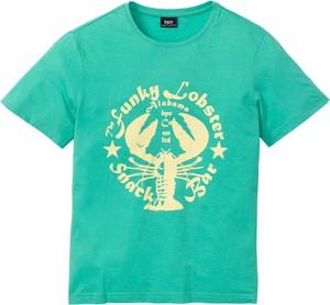 Zielony t-shirt bonprix bpc bonprix collection