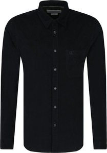 Czarna koszula Calvin Klein z bawełny z długim rękawem
