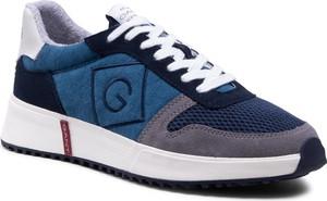 Granatowe buty sportowe Gant sznurowane ze skóry w sportowym stylu