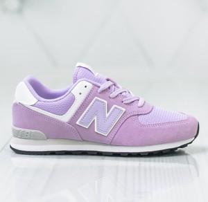 Różowe buty sportowe New Balance sznurowane w sportowym stylu z płaską podeszwą