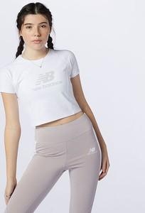 Bluzka New Balance z bawełny z krótkim rękawem w sportowym stylu
