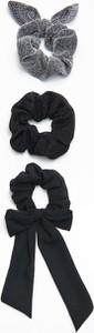 Cropp - 3 pack gumek do włosów - Czarny