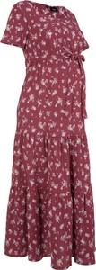 Fioletowa sukienka bonprix bpc bonprix collection z bawełny