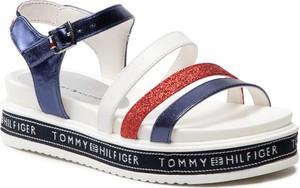 Buty dziecięce letnie Tommy Hilfiger dla dziewczynek na rzepy