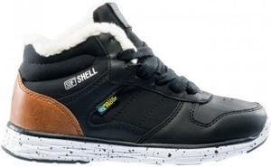 Czarne buty zimowe sklepiguana sznurowane