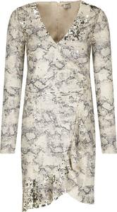 Sukienka Silvian Heach z długim rękawem z dekoltem w kształcie litery v