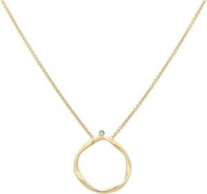 Irbis.style srebrny naszyjnik koło z cyrkonią