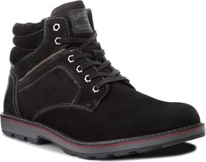 Czarne buty zimowe Lasocki For Men ze skóry