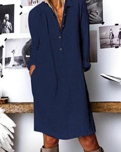 Niebieska sukienka Kendallme mini z długim rękawem z dekoltem w kształcie litery v