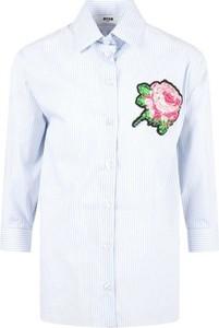 Niebieska koszula dziecięca MSGM w kwiatki