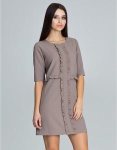 Sukienka Figl ołówkowa z długim rękawem mini