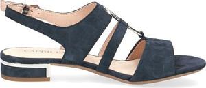 Sandały Caprice ze skóry na średnim obcasie